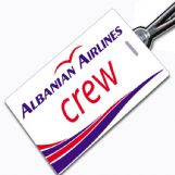 Albanian Airlines Crew Tag
